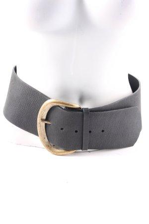 Raison d'être Cintura di pelle nero-oro stile stravagante