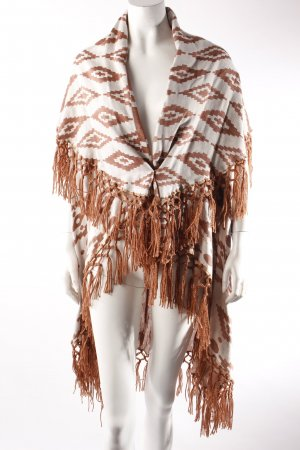Cardigan brown red-white