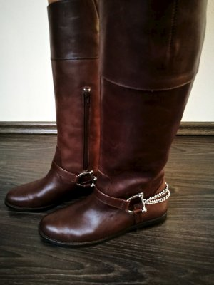 Lauren by Ralph Lauren Jackboots brown-dark brown leather