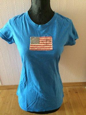 Ralf Lauren T-Shirt mit aufgestickter USA Flagge