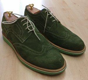 Ralph Harrison Chaussures à lacets vert foncé daim