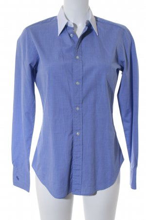 Ralph Harrison Shirt Blouse white-cornflower blue flecked business style