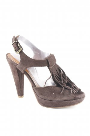 Ralph Harrison Riemchenpumps braun Casual-Look