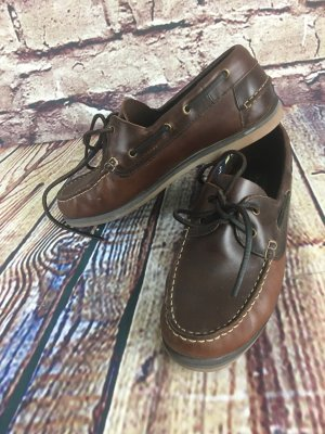 Ralph Harrison Sailing Shoes black brown-dark brown leather