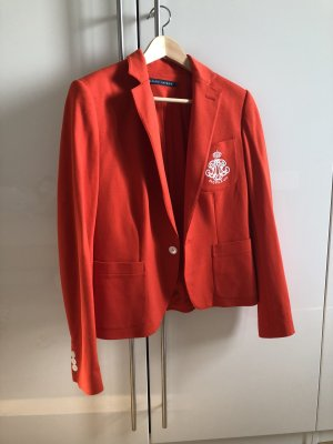 Ralph Lauren Blazer sweat blanc-orange foncé