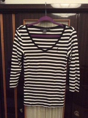 Ralph Lauren Sport T-shirt rayé noir-blanc