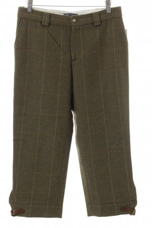 Ralph Lauren 3/4 Length Trousers grass green-lime yellow check pattern fluffy