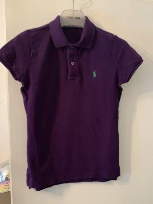 Lauren Jeans Co. Ralph Lauren Polo shirt bruin-paars-groen