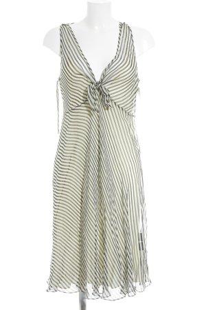 Ralph Lauren A-Linien Kleid schwarz-hellgelb Streifenmuster Elegant