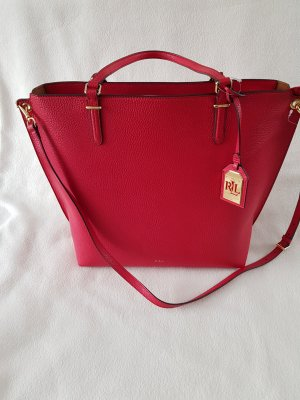 Ralph Lauren Shopper red-bright red imitation leather