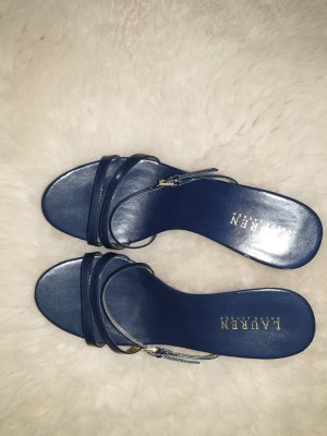 Ralph Lauren Heel Pantolettes gold-colored-dark blue