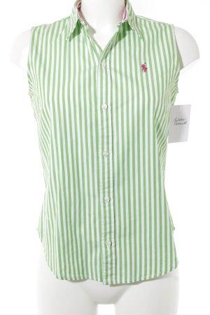 Ralph Lauren ärmellose Bluse neongrün-weiß Streifenmuster Business-Look