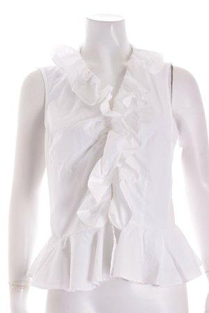 Ralph Lauren ärmellose Bluse weiß Casual-Look