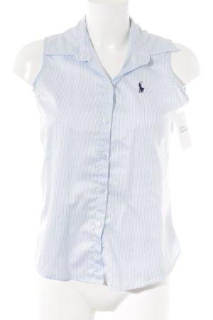 Ralph Lauren ärmellose Bluse weiß-himmelblau Streifenmuster Casual-Look