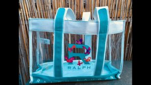 Ralph Lauren Carry Bag white-light blue