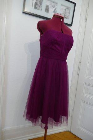 Ralph Lauren Bandeau Kleid aus Tüll Abendkleid Cocktailkleid Tüll Rock purpur purple lila