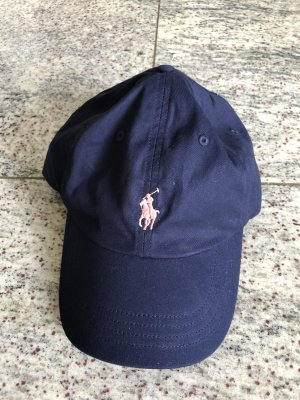 Ralph Lauren Casquette de baseball rose clair-bleu foncé