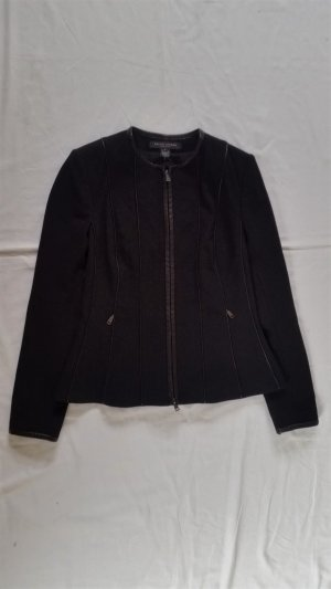 Ralph Lauren Black Label, Jacke, schwarz, 38 (US 8), Wolle, Lederapplikationen, neu, € 2.000, -