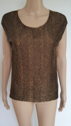 Ralph Lauren Black Label, Pailletten-Top, bronze/camel, 38 (US 8), neuwertig, € 1.600,-