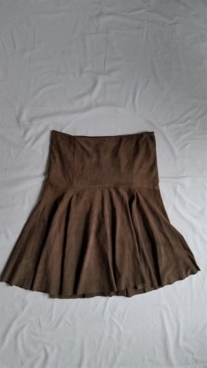 Ralph Lauren Black Label, Rock, Veloursleder, braun/taupe, Gr. 40 (US 10), neuwertig, € 1.800,-