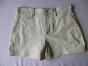 Ralph Lauren Black Label, Shorts, Leder, weiß, Gr 34, € 1.500, -