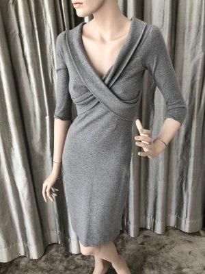Lauren by Ralph Lauren Abito di maglia argento Tessuto misto
