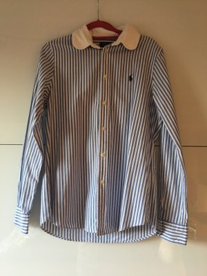 Ralph Lauren, blau weißgestreifte Bluse, Größe 10 von Polo