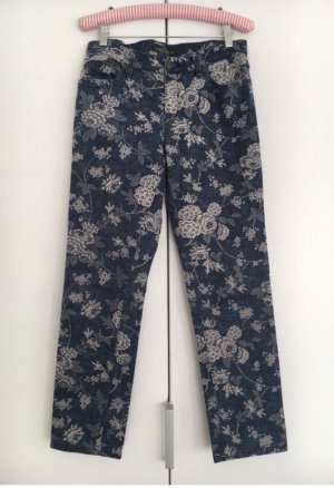 RALPH LAUREN blaue Skinny Jeans mit Blumenmuster