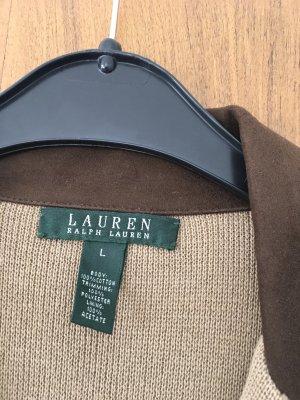 Lauren by Ralph Lauren Blazer in maglia color cammello