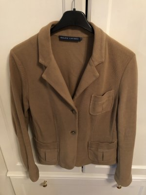 Ralph Lauren Blazer de tela de sudadera marrón claro