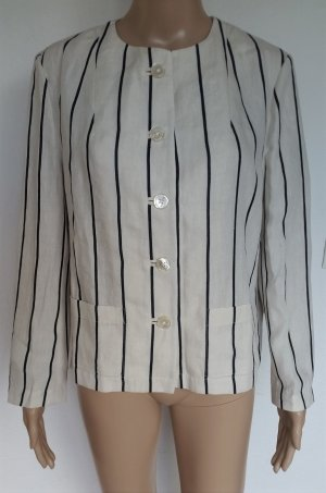 Ralph Lauren Blue Label, Jacke, Leinen, cream mit schwarzen Streifen, 40 (US 10), neu, € 650,-