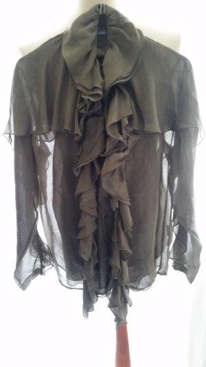 Ralph Lauren Blue Label, Seidenbluse, grau-grün, Gr. 38,  neu, € 790,-