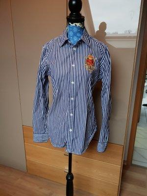 Ralph Lauren Sport Shirt Blouse white-dark blue