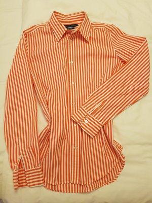 Ralph Lauren Bluse gestreift orange-weiß