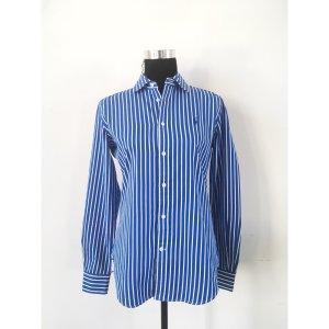 Ralph Lauren Bluse Gr. 10 | 38 Blau weiß gestreift Klassisches Hemd maritim Streifen