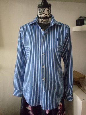 Ralph Lauren Bluse Hemd Gestreift Weiß Blau 12 40 42 L