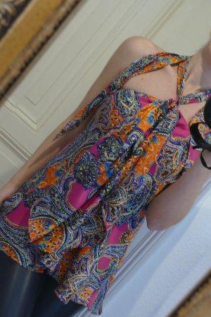 Ralph Lauren Bluse Neckholder Top Damen Sommer Tunika S Sommer RL NEU