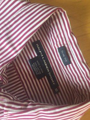 Ralph Lauren Bluse rot weiß Gr. 10