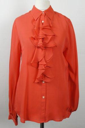 Ralph Lauren Bluse Seidenbluse Gr. S orange