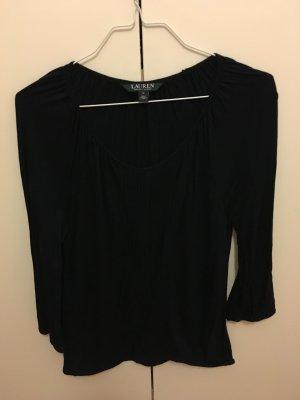 Ralph Lauren Bluse Shirt M 38 3/4-ärmlig Gummibund Faltenmuster neuwertig