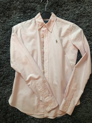 Ralph Lauren Bluse Slim fit Hemdbluse mit Button-Down-Kragen - Rosé