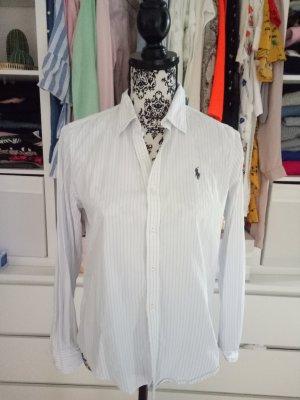 Ralph Lauren Bluse Weiß Hemd Blau 10 Gestreift 38 40