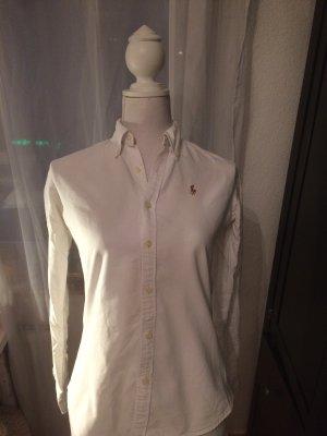 Ralph Lauren Bluse weiß Slim Fit dicke Baumwolle XS/S