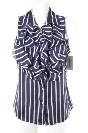 Ralph Lauren Blouse Top dark blue-white striped pattern