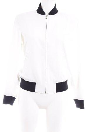 Ralph Lauren Bomberjacke weiß-schwarz Casual-Look