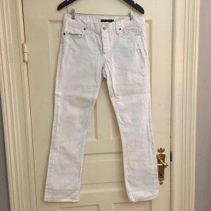 Ralph Lauren Boyfriend Trousers white cotton