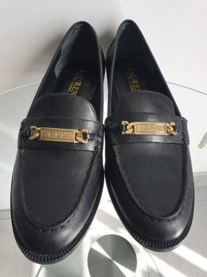 Lauren by Ralph Lauren Slippers black-gold-colored