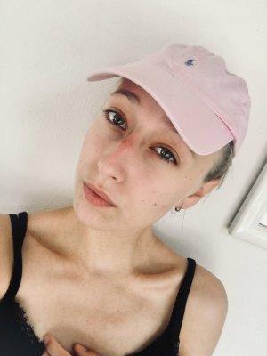 Ralph Lauren Berretto da baseball rosa chiaro-bianco
