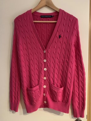 Ralph Lauren Sport Cardigan all'uncinetto rosa