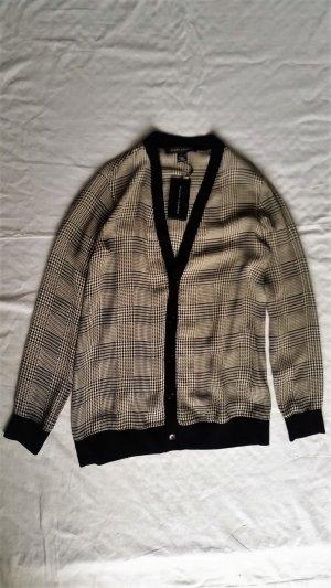 Ralph Lauren, Cardigan, Seide, 34 (US 4), schwarz-weiß, neu, € 800,-